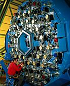 Technician with the WIYN telescope's active optics