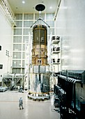 Hubble Space Telescope at Lockheed factory