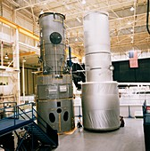 Two training mock-ups of Hubble Space Telescope
