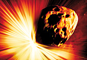 Asteroid deflection,stand-off explosion