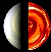 Venus' south pole,Venus Express image