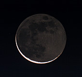27 day old moon with earthshine