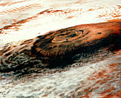 The giant Martian volcano Olympus Mons,in cloud