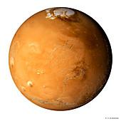Mars,composite satellite image