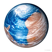 Terraforming Mars,computer artwork