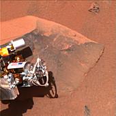 Rock analysis on Mars
