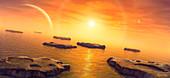 Europa's future sea