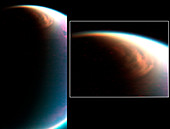 Titan's north pole cloud,Cassini images