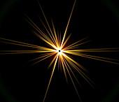 Solar eclipse flare