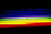 Solar spectrum showing Fraunhofer absorption lines