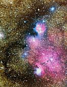 Nebulae in Sagittarius
