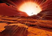 Proxima Centauri planet,artwork