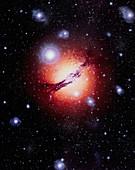 Artwork showing active galaxy Centaurus A