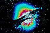 False-col optical image Centaurus A radio galaxy