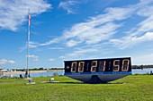 NASA mission countdown clock