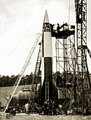 V-2 prototype rocket prior to launch