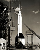 V-2 bumper rocket launch in USA