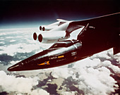 X-15 under wing of B-52 just before launch
