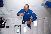 NASA astronaut training in free fall
