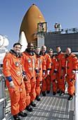 STS-122 mission crew