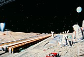 Artwork of future Lunar Supply Base