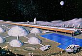 Artist's impression of future lunar base
