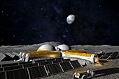 Moon base,computer artwork