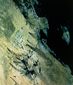 Landsat image of an oilfield in eastern Saudi