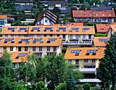 Rooftop solar heat collectors