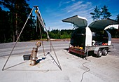 Surveying a site for radioactive disposal