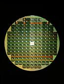 Macro of IBM 4 MByte memory chip wafer