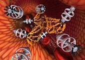 Nanorobots,computer artwork