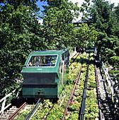 Water-powered funicular railway