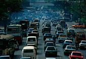 Traffic jam in Bangkok,Thailand
