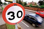 Traffic speed sign