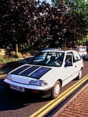 Solectria battery and solar-powered electric car