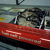 Hydrogen fuel cell bus fans