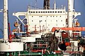 Oil storage tanker deck