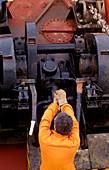 Oil tanker worker