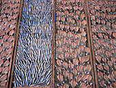 Fish being dried on racks
