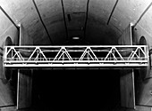 Bridge wind tunnel test,1954