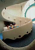 Spiral ramp staircase of World's Safest House