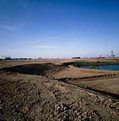 Land reclaimed from docks for redevelopment