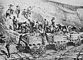 Railway construction,19th century