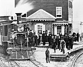 19th-century US steam locomotive