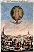 First hot air balloon demonstration,1783