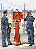 Early fire brigade street alarm