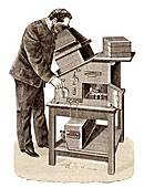 X-ray viewing machine,1895