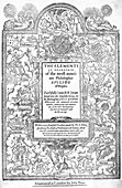 Frontispiece of Euclid's Elements