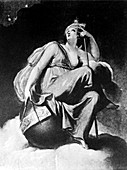 Artwork of Urania,Greek goddess of astronomy
